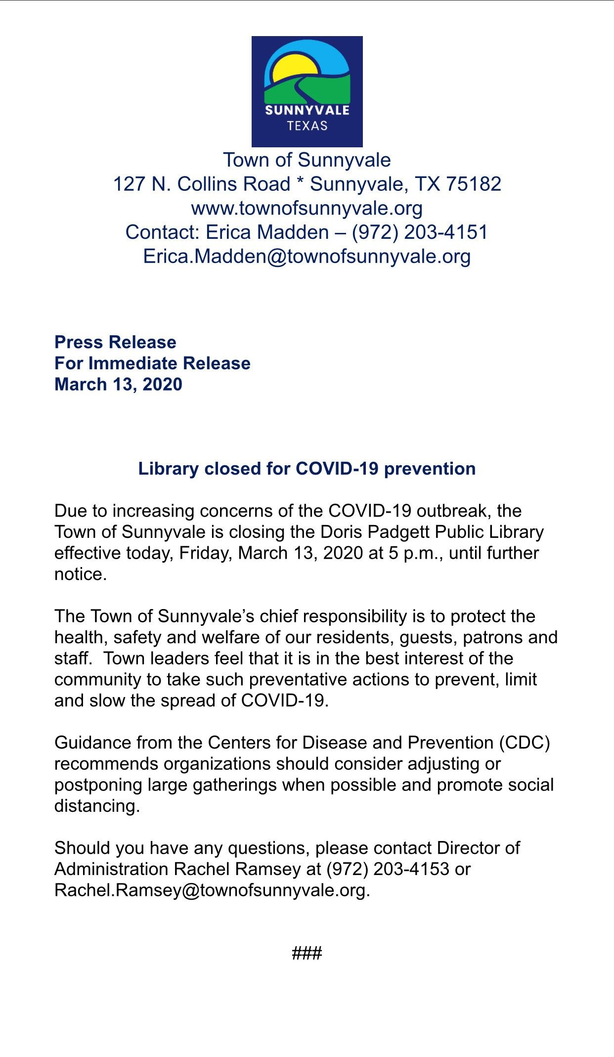 Library Press Release